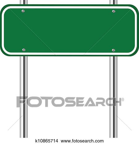 clipart of blank green traffic sign k10865714 search