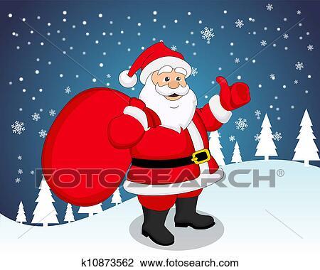 剪贴画 圣诞老人, 描述