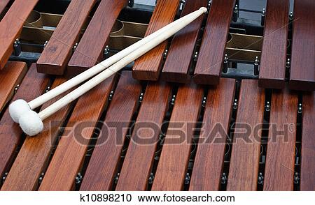 Stock Photography of Mallets on marimba k10898210 - Search ...