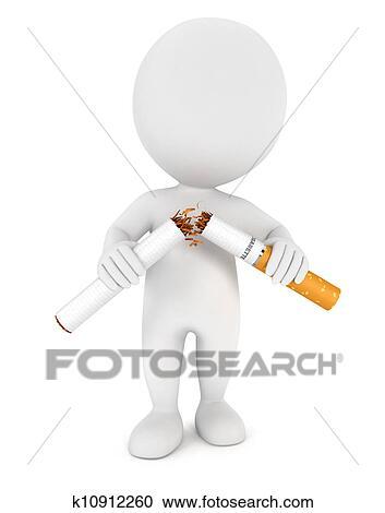 banque d 39 illustrations 3d blanc gens arr t fumer k10912260 recherchez des cliparts des. Black Bedroom Furniture Sets. Home Design Ideas