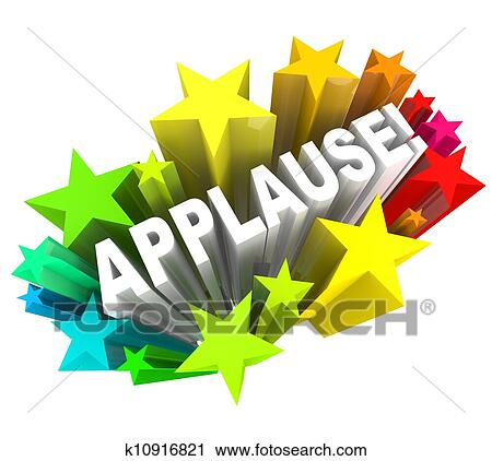 Clipart of Applause Word Appreciation Ovation Approval ...