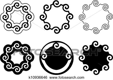 Stock Illustration of Six design elements.cdr k10936646 - Search ...