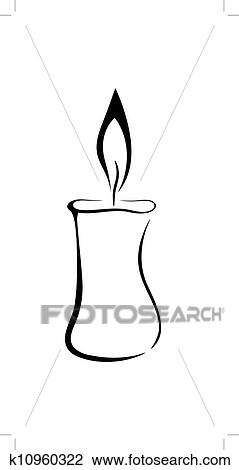 clipart vektor symbol von kerze k10960322 suche clip art illustration wandbilder. Black Bedroom Furniture Sets. Home Design Ideas