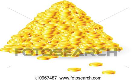clip art of pile of gold coins k10967487 search clipart
