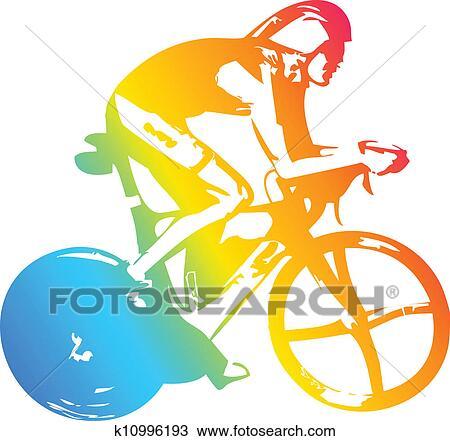剪贴画 - 自行车, 运动员