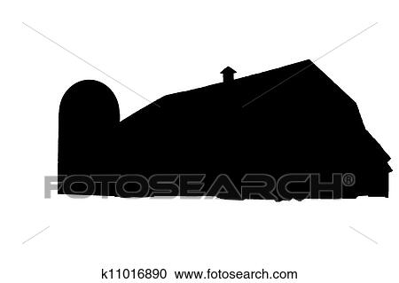 Stock Illustrations of Silhouette barn k11016890 - Search ...