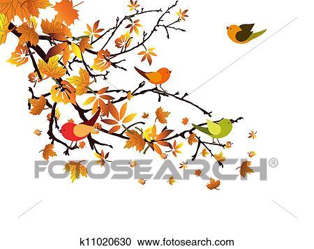 剪贴画 - 秋天, 分支