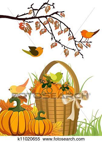 剪贴画 - 秋天, 设计图片