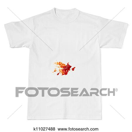 Pictures Of Ketchup Food Stain On A T Shirt K11027488