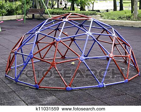 Stock Photograph Of Colorful Geodesic Dome K11031559