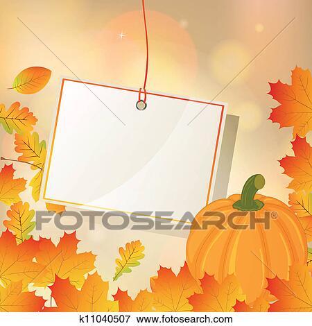 剪贴画 - 秋天, 矢量,