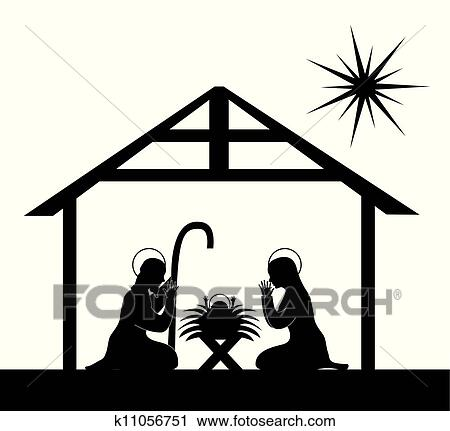 Nativity Clip Art EPS Images. 4,016 nativity clipart vector ...
