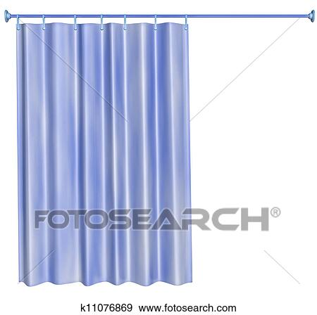 shower curtain clipart. stock illustration shower curtain fotosearch search vector clipart drawings print murals