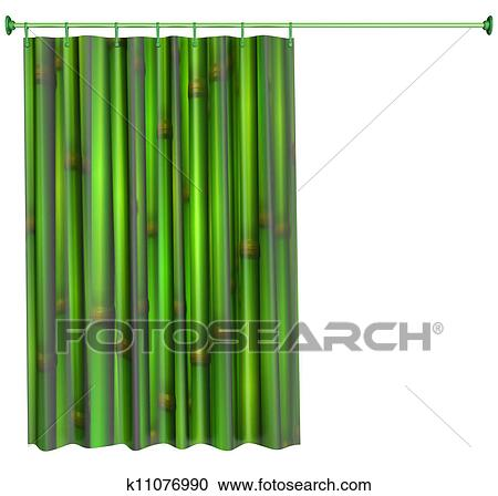shower curtain clipart. stock illustration - shower curtain. fotosearch search clipart, posters, drawings and curtain clipart o