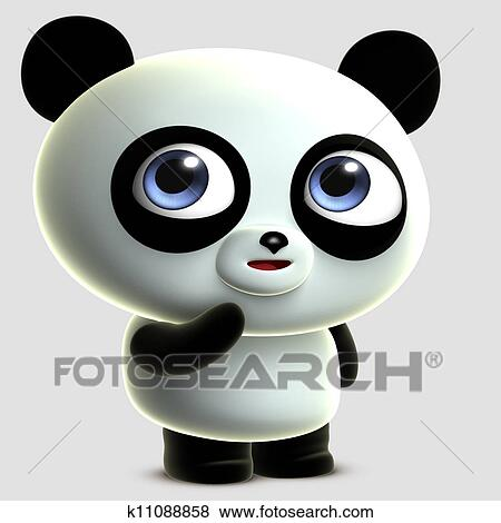 banque dillustrations mignon dessin anim panda