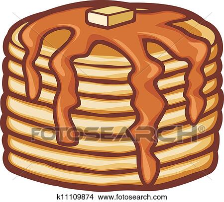 Clip Art Pancake Clipart pancake syrup clipart vector graphics 498 eps clip pancakes with butter and syrup
