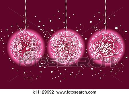 clipart weihnachten kugeln k11129692 suche clip art. Black Bedroom Furniture Sets. Home Design Ideas