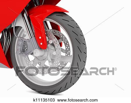 手绘图 - 摩托车