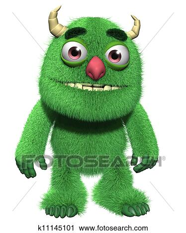 Clipart of 3d cartoon furry cute goblin k11145101 - Search Clip ...