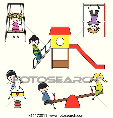 Clipart of kids playin...