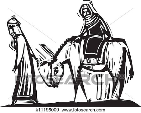 Clip Art of Mary and Joseph k11195009 - Search Clipart ...