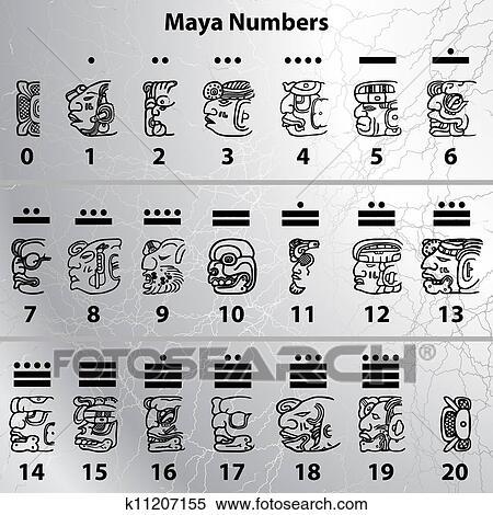 剪贴画 maya, 数字