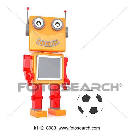 手绘图 机器人, 玩具