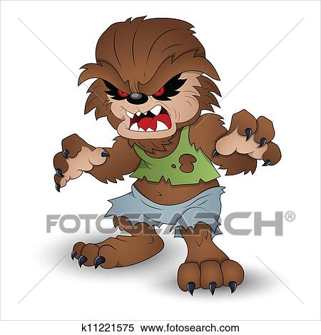 Clipart Of Funny Werewolf Vector Illustration K11221575 Search Clip Art Murals