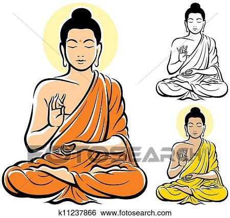 Clip Art Buddha Clipart buddha clip art and illustration 4315 clipart vector eps buddha
