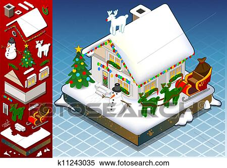 剪贴画 - 等容线, 圣诞节