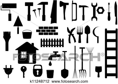 clip art freigestellt werkzeuge arbeiten hause. Black Bedroom Furniture Sets. Home Design Ideas