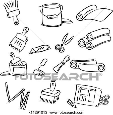 Clipart bricolage d corer outils k11291013 - Clipart bricolage ...
