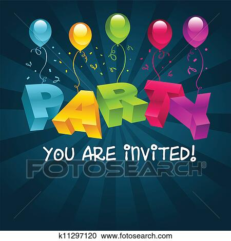 Colorful Party Invitations Party Invitation Card
