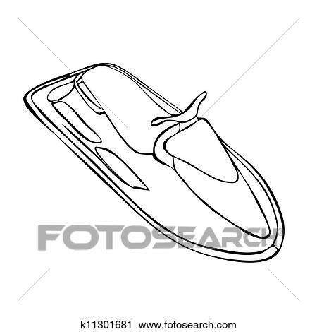 Clipart Of Isolated Jet Ski K11301681