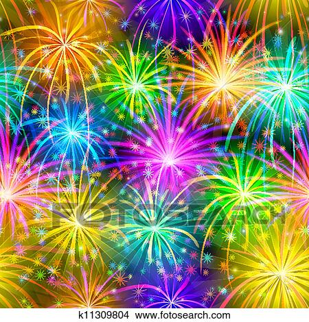 Clipart fireworks seamless fotosearch search clip art
