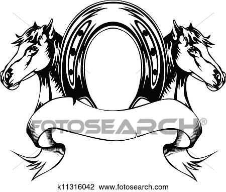 Clipart of Mustang Stallion Horse Tribal Tattoo Vector Image ...
