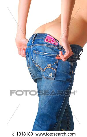 спущенные джинсы у девчонок фото