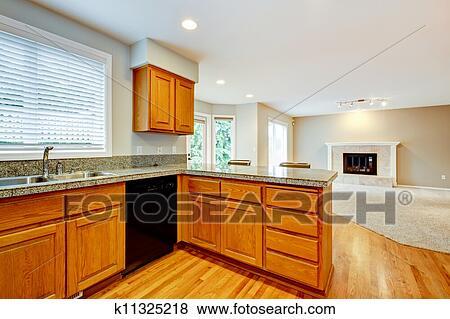 images grand vide ouvert cuisine salle de s jour maison interior k11325218. Black Bedroom Furniture Sets. Home Design Ideas