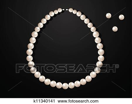 Clipart of Pearl Necklace k11340141 - Search Clip Art ...