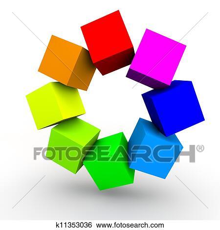 Как сделать фон из кубиков в кореле