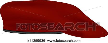 Clip Art of Military beret k11359936 - Search Clipart ...