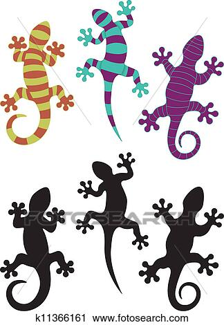 Clipart geco k11366161 cerca clipart illustrazioni for Disegno geco