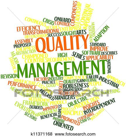 Abstract word cloud for Quality management with related tags and termsQuality Management Clipart