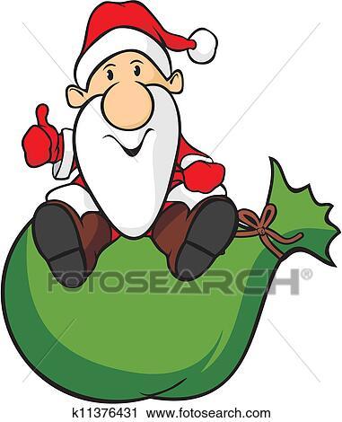 剪贴画 - 圣诞老人, 同时