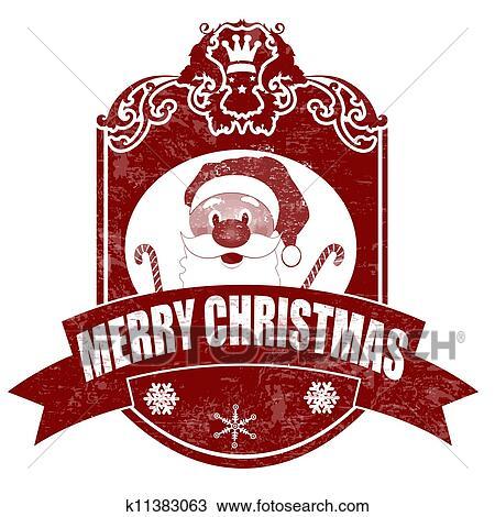 Clipart weihnachten elegante altmodisch briefmarke for Elegante wandbilder