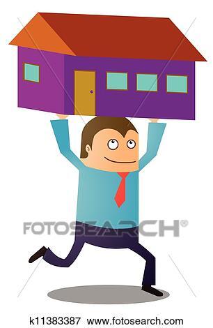 Clipart achat nouvelle maison k11383387 recherchez for Achat nouvelle maison impot