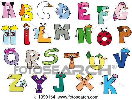 手绘图 - 字母表