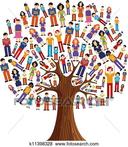Clip Art Diversity Clipart clipart of isolated diversity tree people k11398324 search clip pixel human tree