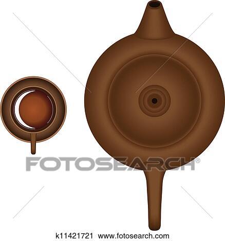茶壶的想象儿童画