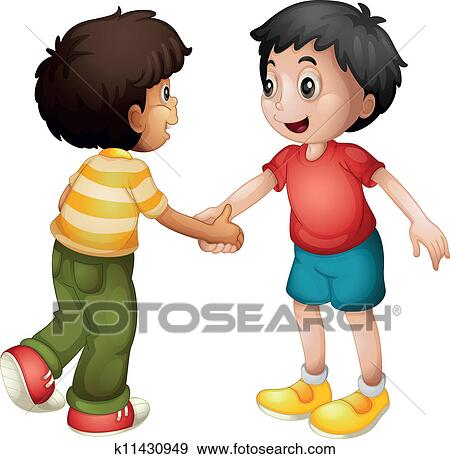 Hands shaking picture clipart best - Clip Art Of Kids Shaking Hands K11430949 Search Clipart